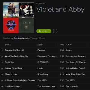 Violet and Abby Playlist