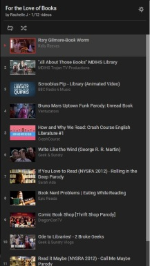 For the Love of Books Youtube Playlist